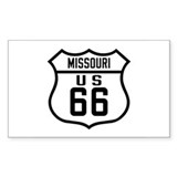 Route 66 Old Style - MO Rectangle Decal