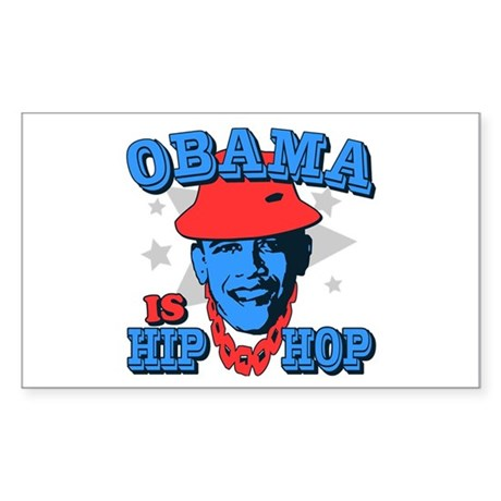 Obama is Hip Hop Rectangle Sticker