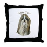 Shih Tzu with breed name Throw Pillow