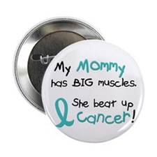 """Big Muscles 1.1 TEAL (Mommy) 2.25"""" Button"""