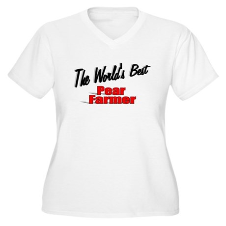 """The World's Best Pear Farmer"" Women's Plus Size V"