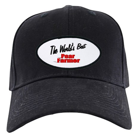 """The World's Best Pear Farmer"" Black Cap"