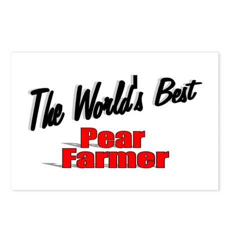 """The World's Best Pear Farmer"" Postcards (Package"
