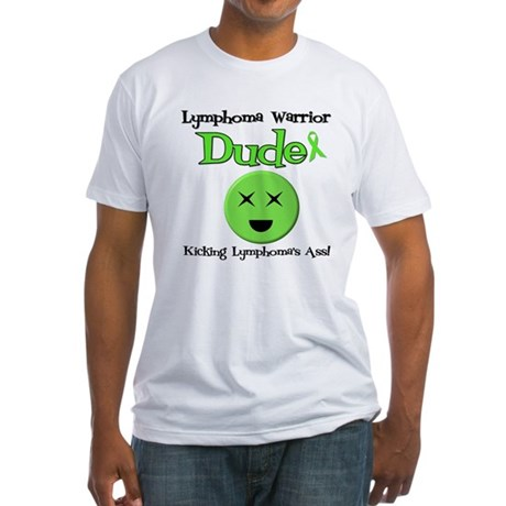 Lymphoma Warrior Dude Fitted T-Shirt