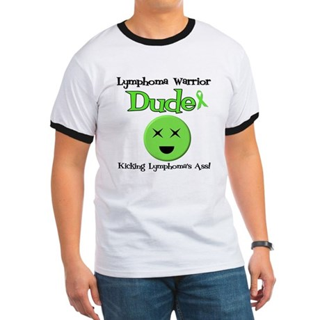 Lymphoma Warrior Dude Ringer T