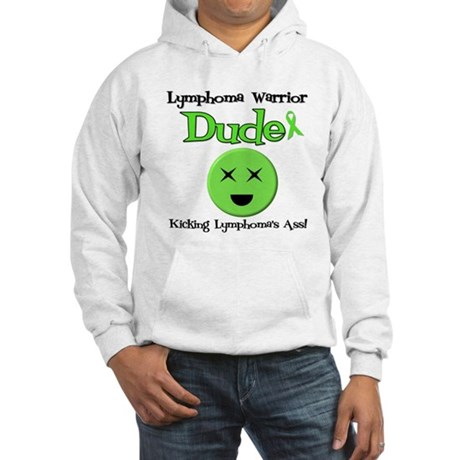 Lymphoma Warrior Dude Hooded Sweatshirt