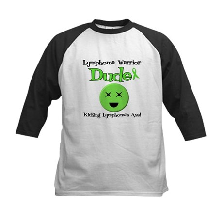 Lymphoma Warrior Dude Kids Baseball Jersey