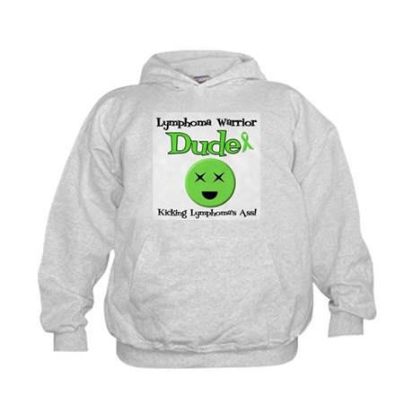 Lymphoma Warrior Dude Kids Hoodie