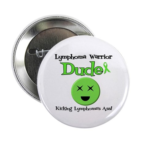 "Lymphoma Warrior Dude 2.25"" Button"