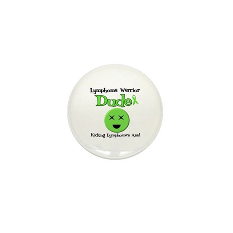 Lymphoma Warrior Dude Mini Button