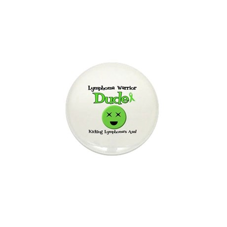 Lymphoma Warrior Dude Mini Button (10 pack)