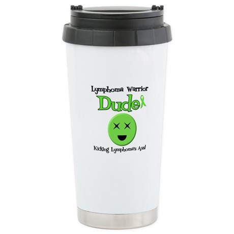 Lymphoma Warrior Dude Ceramic Travel Mug