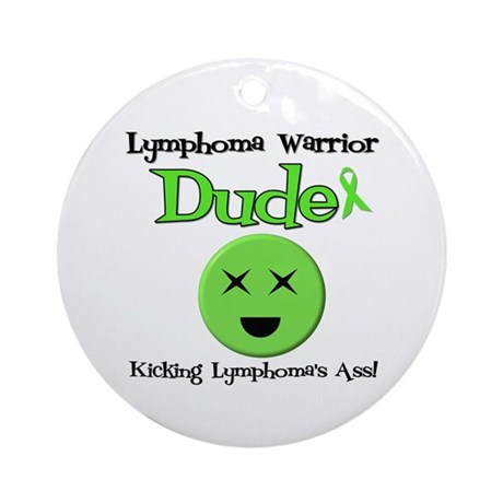 Lymphoma Warrior Dude Ornament (Round)
