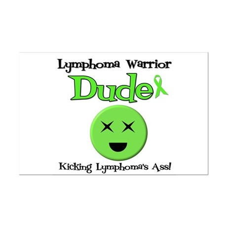 Lymphoma Warrior Dude Mini Poster Print