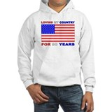 Patriotic 90th Birthday Jumper Hoody