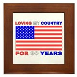 Patriotic 90th Birthday Framed Tile