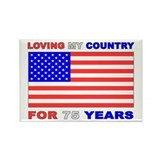 Patriotic 75th Birthday Rectangle Magnet