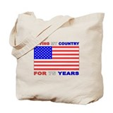 Patriotic 75th Birthday Tote Bag