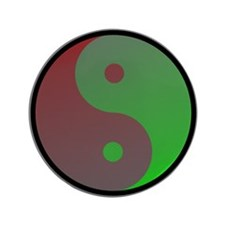 "Yin-Yang Color 3.5"" Button (100 pack)"