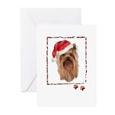 Christmas Yorkshire Terrier Greeting Cards (Pk of