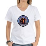 Compton County Fire Women's V-Neck T-Shirt