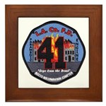 Compton County Fire Framed Tile