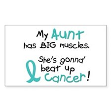 Big Muscles 1.2 TEAL (Aunt) Rectangle Decal