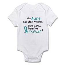 Big Muscles 1.2 TEAL (Aunt) Infant Bodysuit