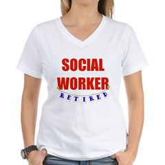 Retired Social Worker Women's V-Neck T-Shirt