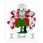 Cerati Family Crest Small Poster