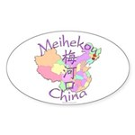 Meihekou China Oval Sticker (10 pk)