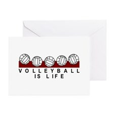Volleyball Is Life Greeting Cards (Pk of 10)
