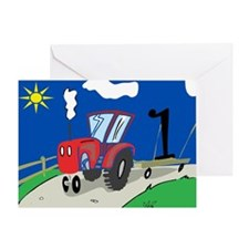 1st Birthday Tractor Greeting Card
