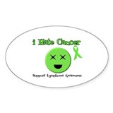 I Hate Cancer Oval Sticker (10 pk)