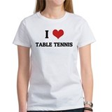I Love Table Tennis Tee