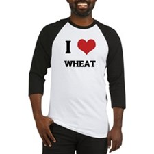 I Love Wheat Baseball Jersey