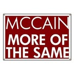 McCain More of the Same Banner
