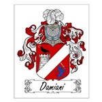 Damiani Family Crest Small Poster