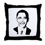 Barack Obama screenprint Throw Pillow