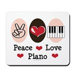 Peace Love Piano Mousepad