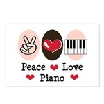 Peace Love Piano Postcards (Package of 8)