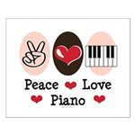 Peace Love Piano Small Poster