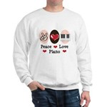 Peace Love Piano Sweatshirt