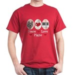 Peace Love Piano Dark T-Shirt
