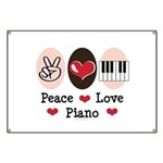 Peace Love Piano Banner