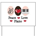 Peace Love Piano Yard Sign