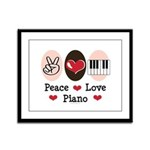 Peace Love Piano Framed Panel Print