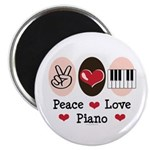 Peace Love Piano Magnet