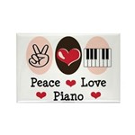 Peace Love Piano Rectangle Magnet (10 pack)