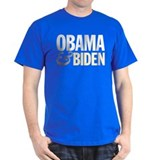 Obama-Biden Bold Type R/B T-Shirt